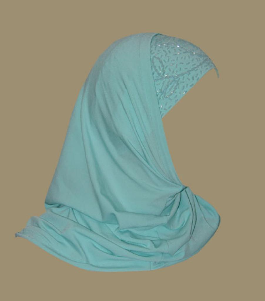 Beaded Al Amira 2 Piece Religious Veil hi1327