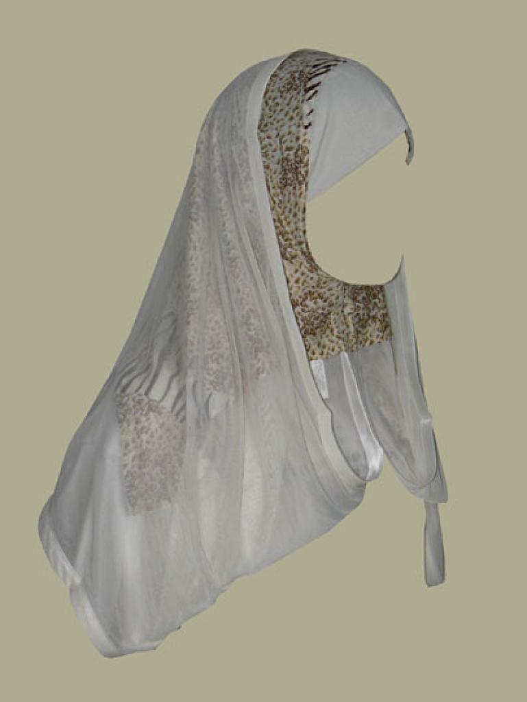 Kuwaiti style twist hijab hi1367