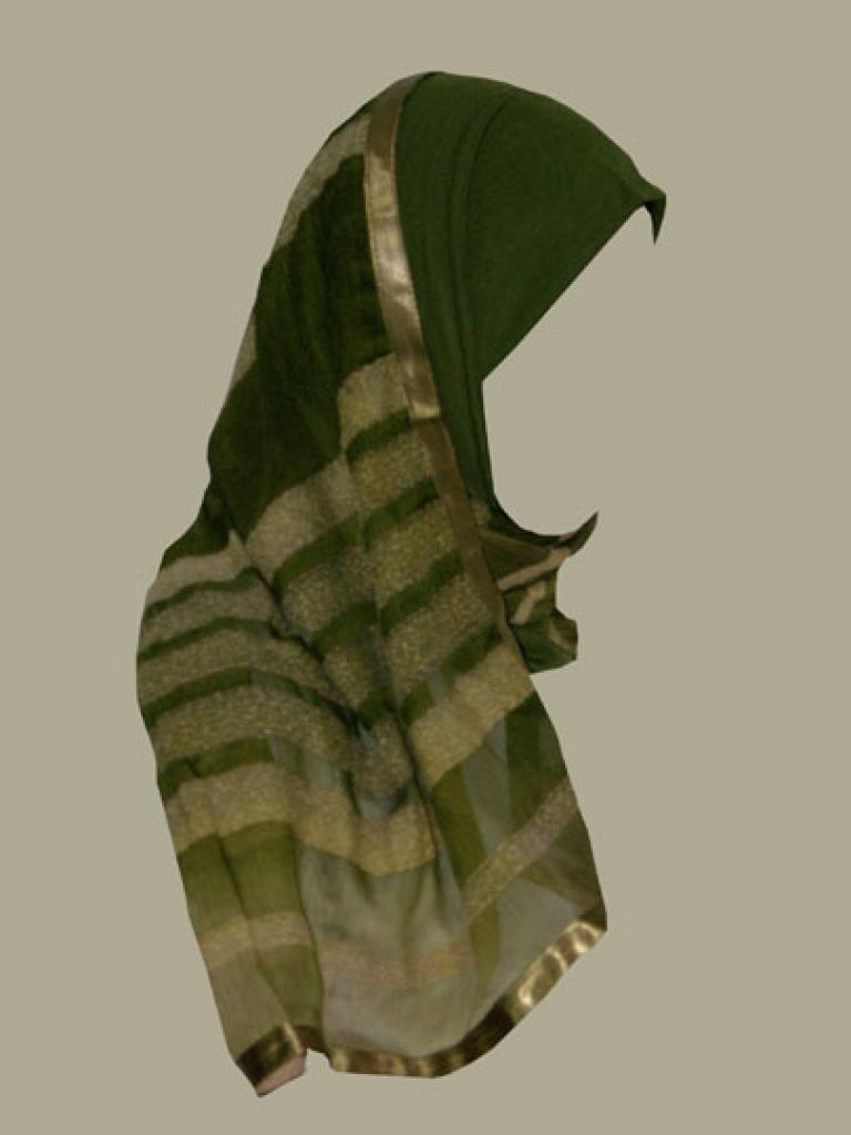 Kuwaiti style twist hijab hi1373