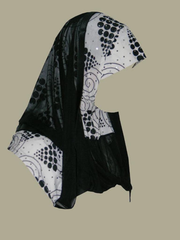 Kuwaiti style twist hijab hi1380