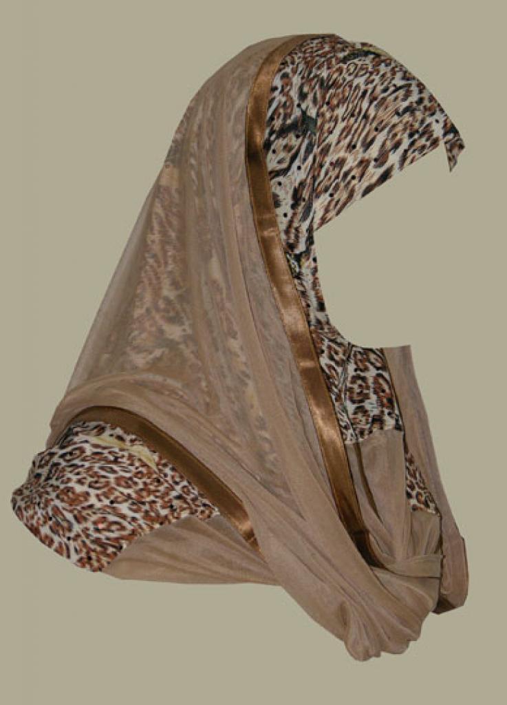 Kuwaiti style twist hijab hi1382