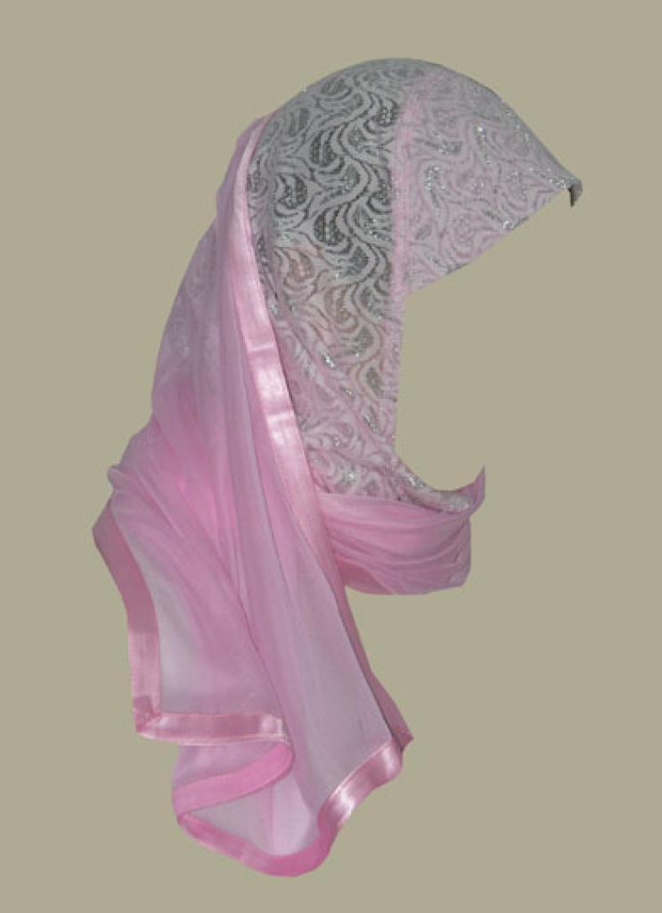 Lace Kuwaiti style twist hijab hi1402