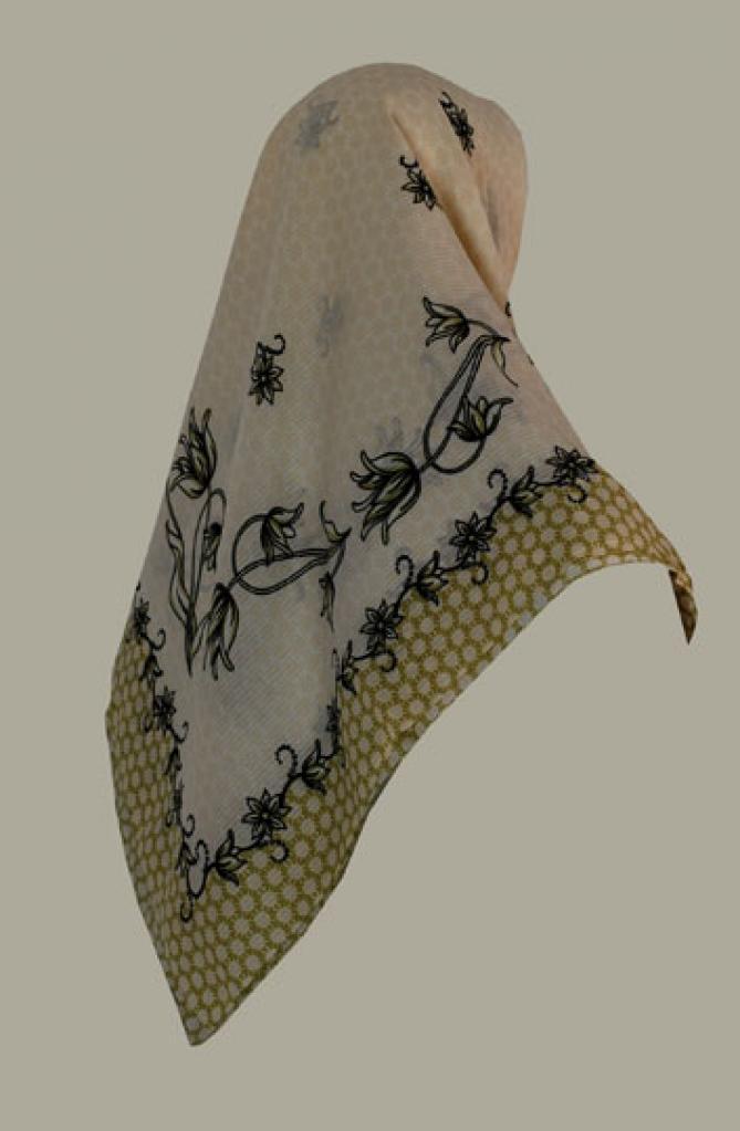 Printed Georgette Hijab hi1414