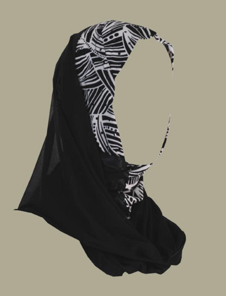 Kuwaiti style twist hijab hi1426