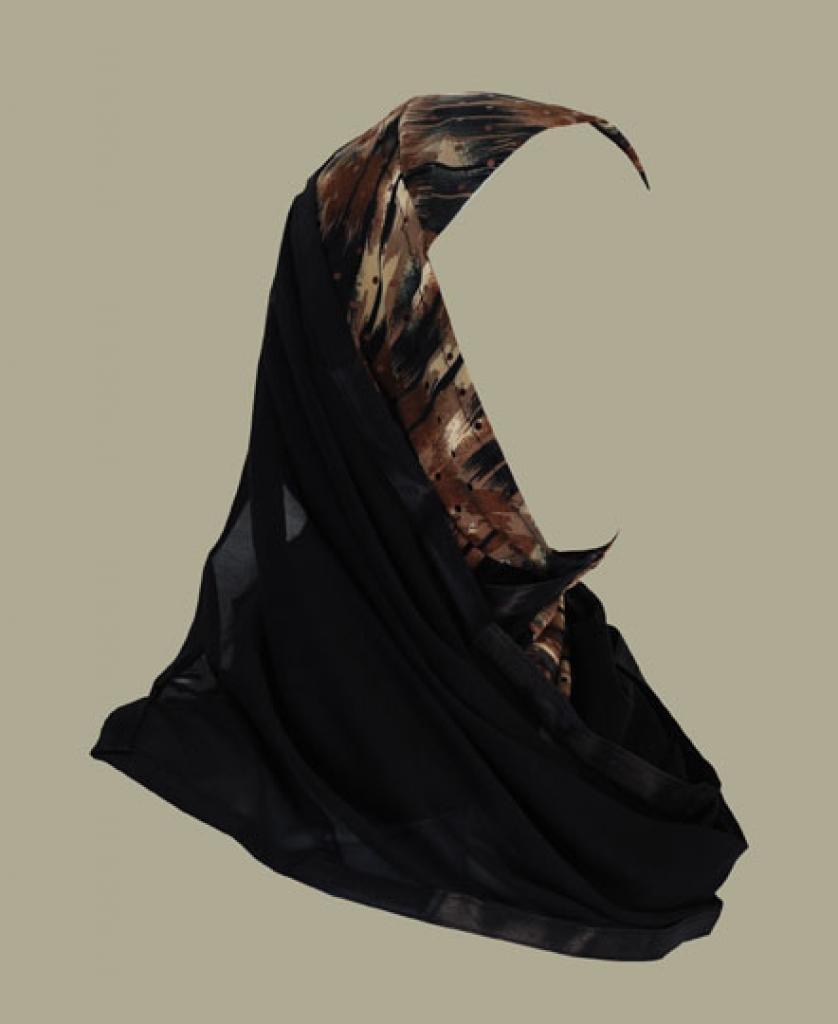Kuwaiti style twist hijab hi1429