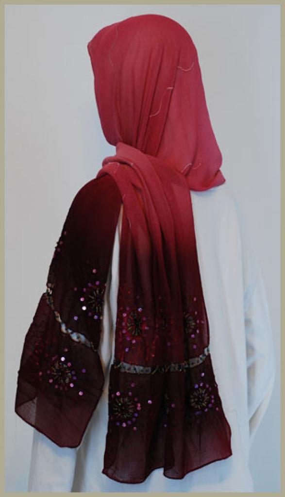 Chiffon Shayla Wrap Hijab hi1436