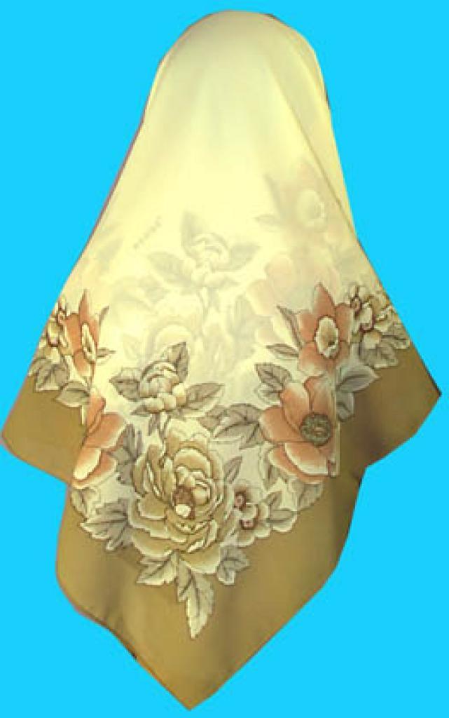 Oversized Turkish Floral Print Poly blend hi147