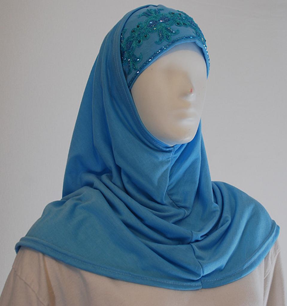 Al Amirah Hijab with Embroidered Underscarf hi1481