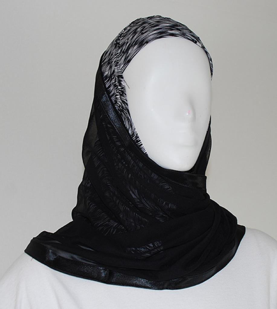 Kuwaiti style twist hijab  hi1485