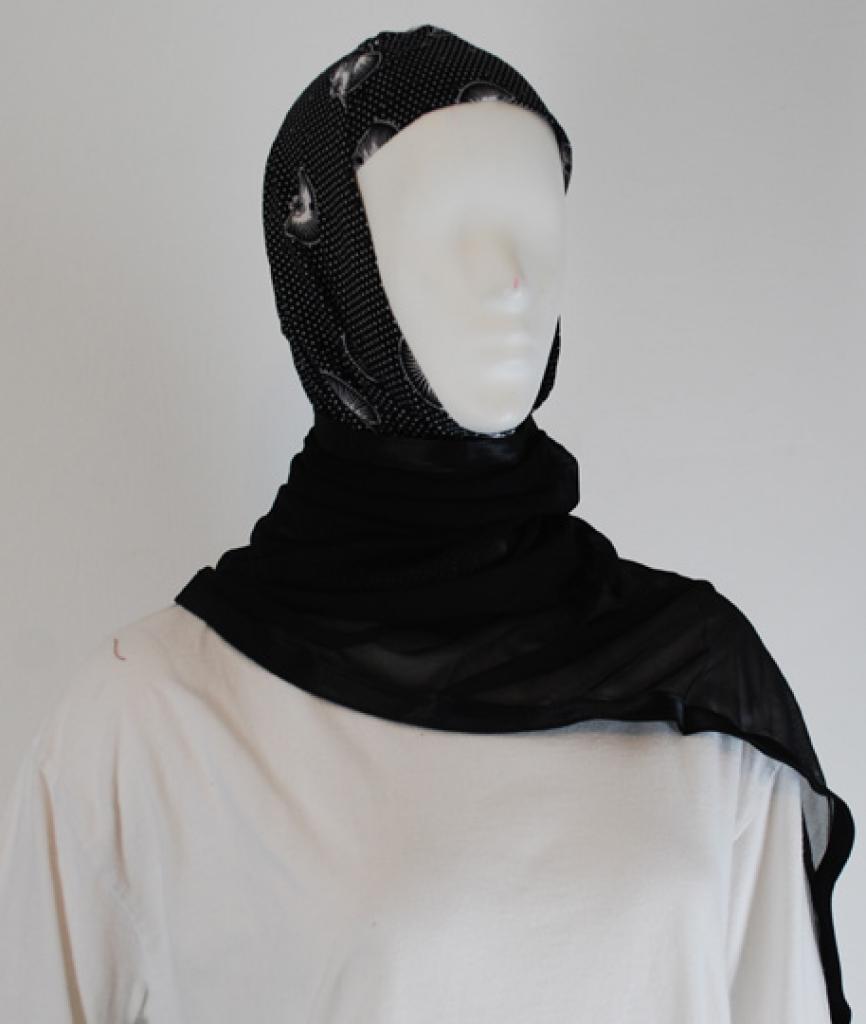 Kuwaiti style twist hijab  hi1487