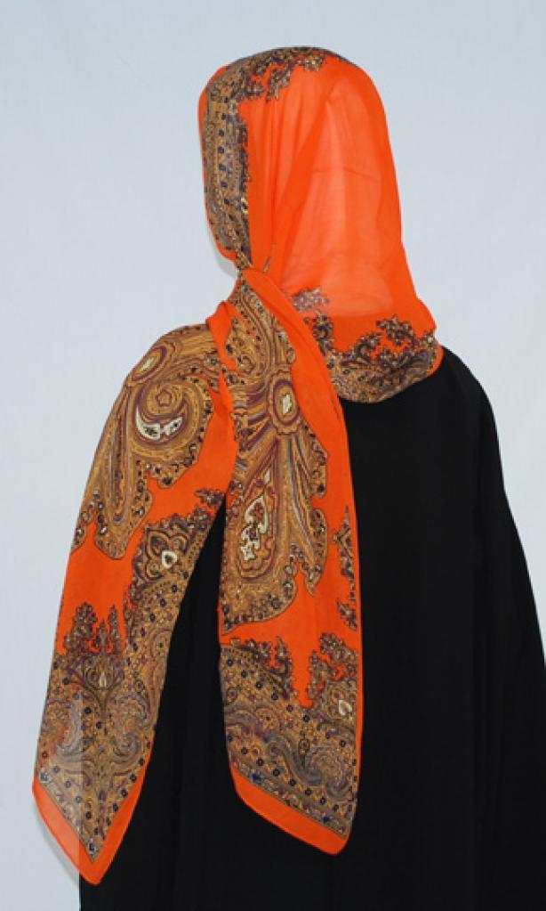 Paisley pattern chiffon shayla hi1580