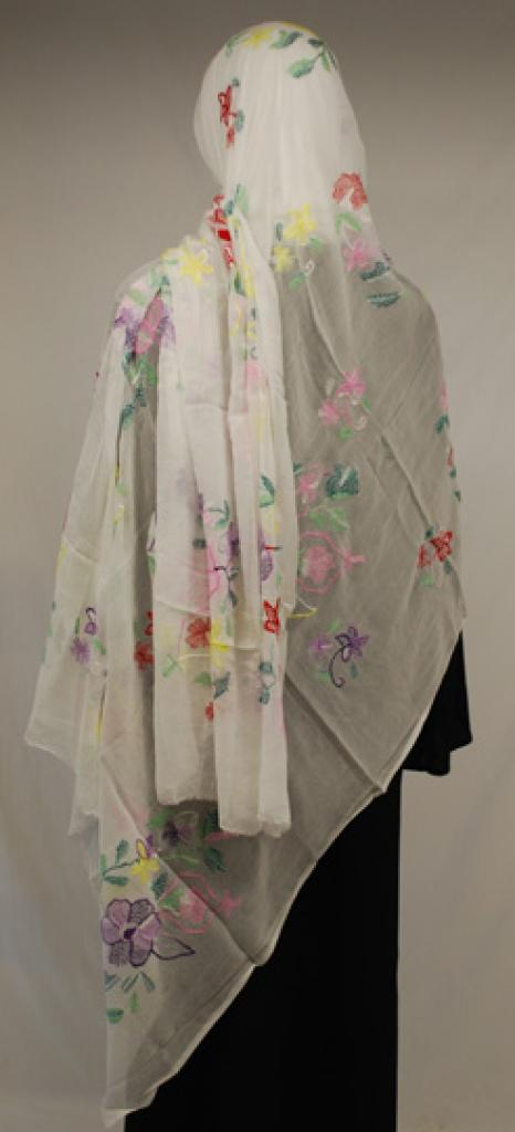 Floral Embroidered Cotton Shayla Wrap hi1582