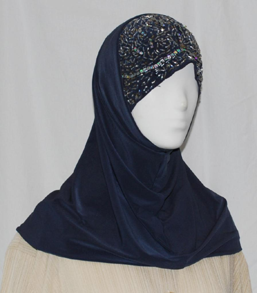 Al Amirah style embroidered and Beaded Hijab hi1591