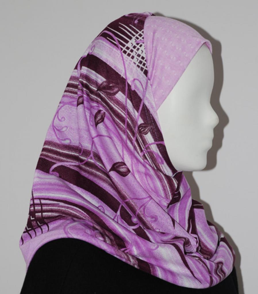 Al Amirah Hijab with Multicolor Print hi1612