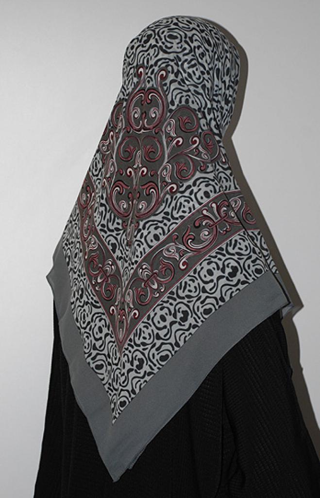 Multitone Paisley Hijab hi1624