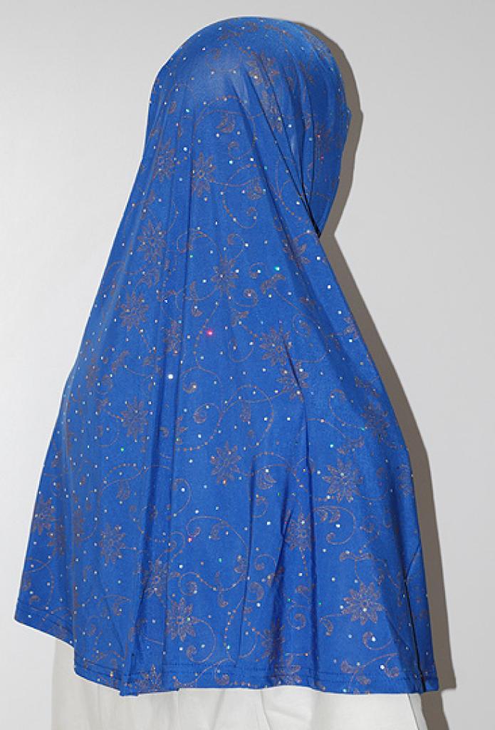 Sparkle Floral Print Al Amirah Hijab hi1625