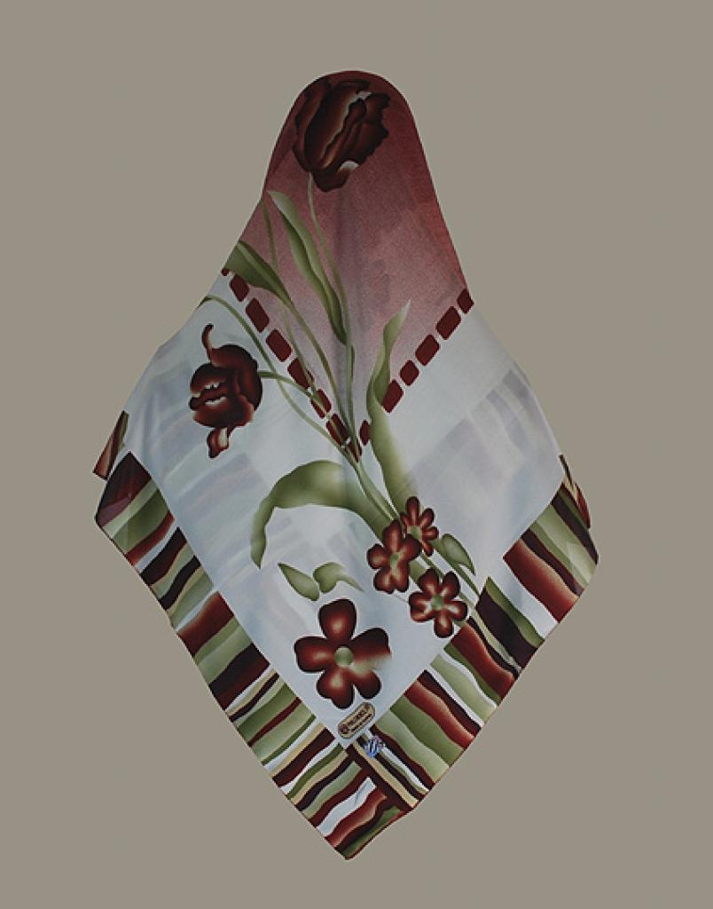 Multitone Tulip Pattern Nurel Turkish Hijab hi1626