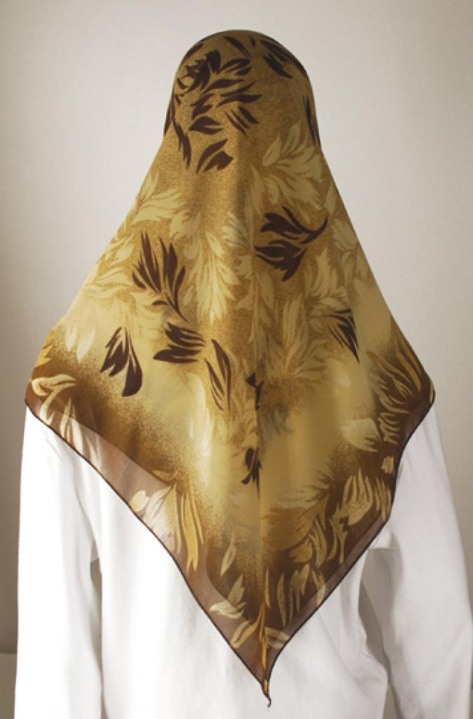 Foliage Design Turkish Hijab  hi1631