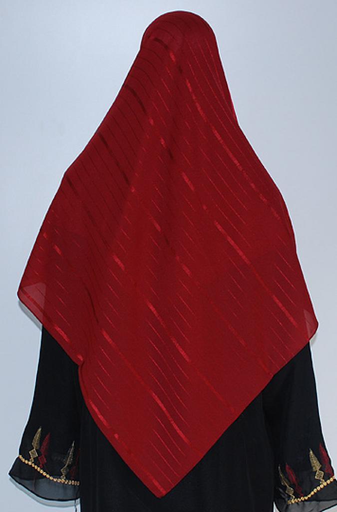 Stripe Embroidered Hijab  hi1632