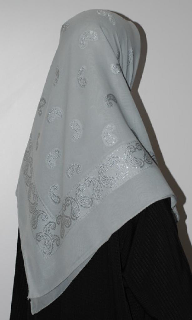 Paisley Embroidered Hijab hi1636