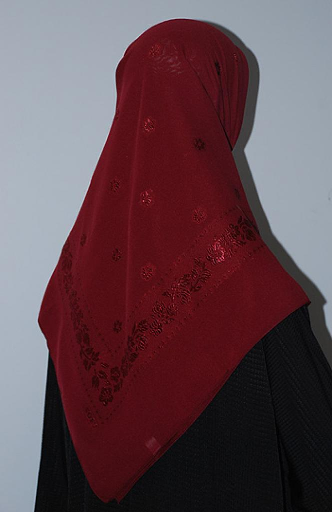 Floral Embroidered Hijab hi1647