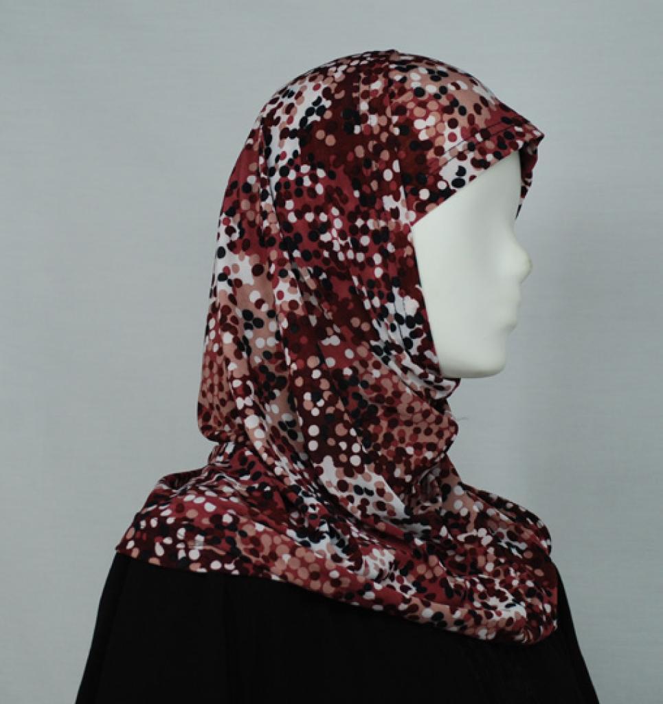 Contrasting Dots Al Amirah Hijab  hi1648