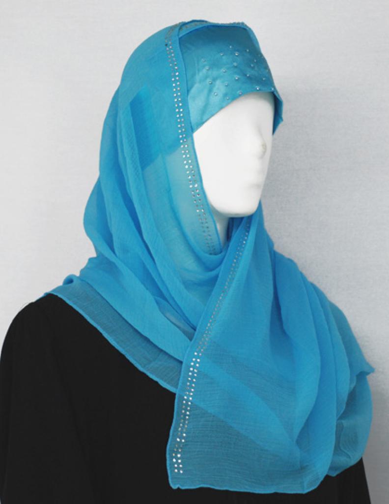 Kuwaiti style Chiffon Wrap Hijab hi1652