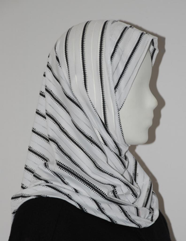 Ribbon Trim Al Amirah Hijab   hi1656
