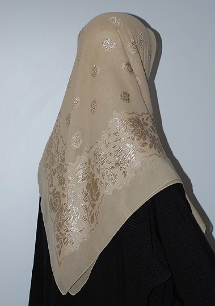Floral Embroidered Hijab hi1657
