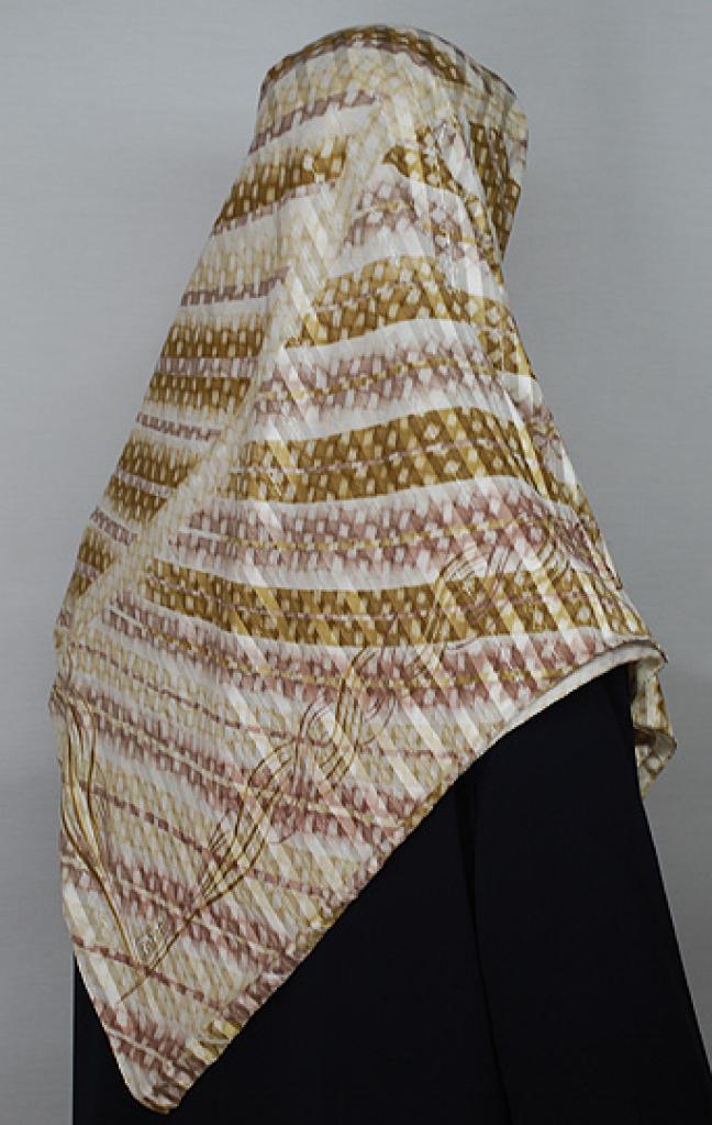 Striped Pattern Turkish Gauze Hijab hi1664