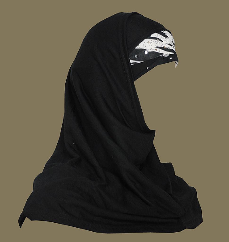 Solid Color Al Amirah Hijab with Color Band hi1667