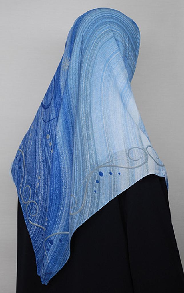 Multitone Stripe Pattern Turkish Gauze Hijab hi1669