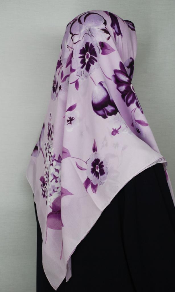 Floral Printed Square Hijab  hi1679