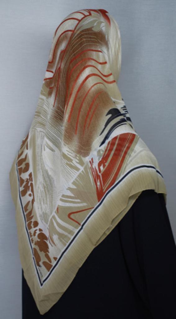 Striped Pattern Turkish Gauze Hijab hi1680