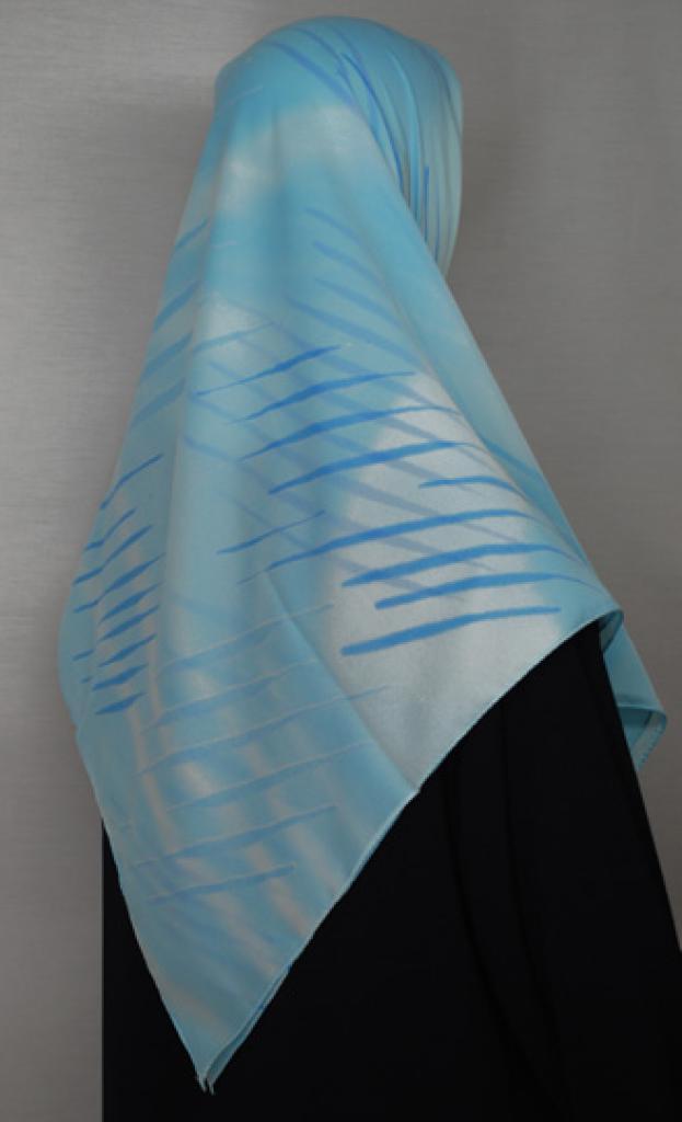 Striped Pattern Turkish Gauze Hijab hi1681