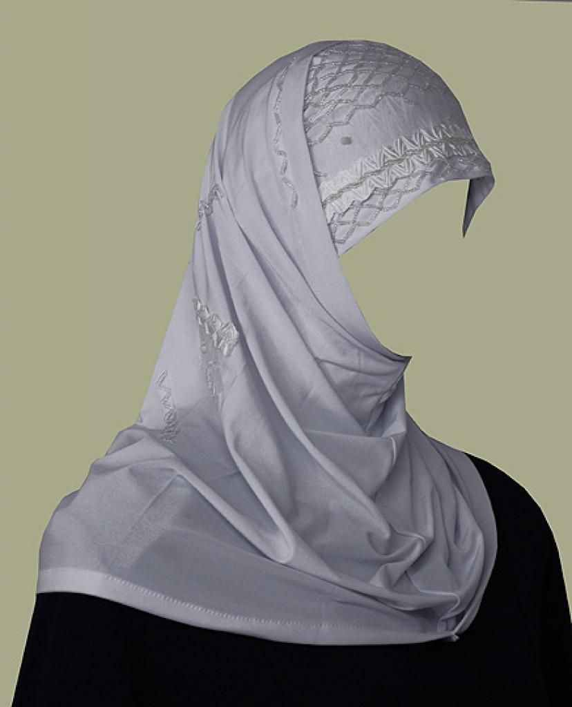 Beaded Al Amirah Hijab with Tafetta Trim hi1686