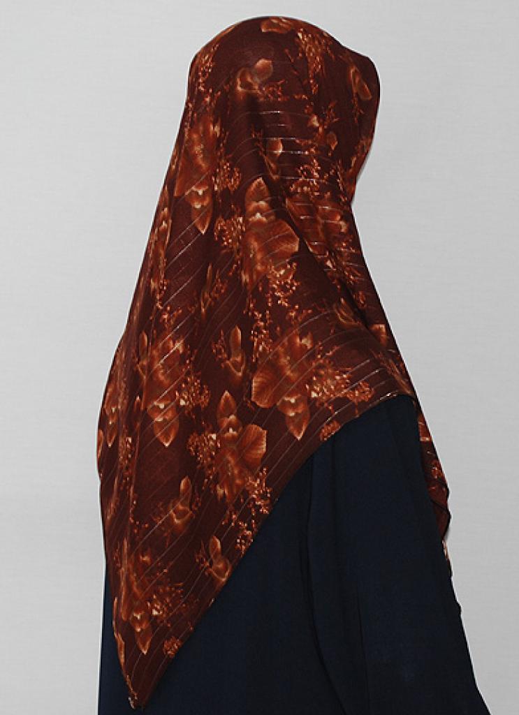 Floral Printed Square Hijab  hi1692