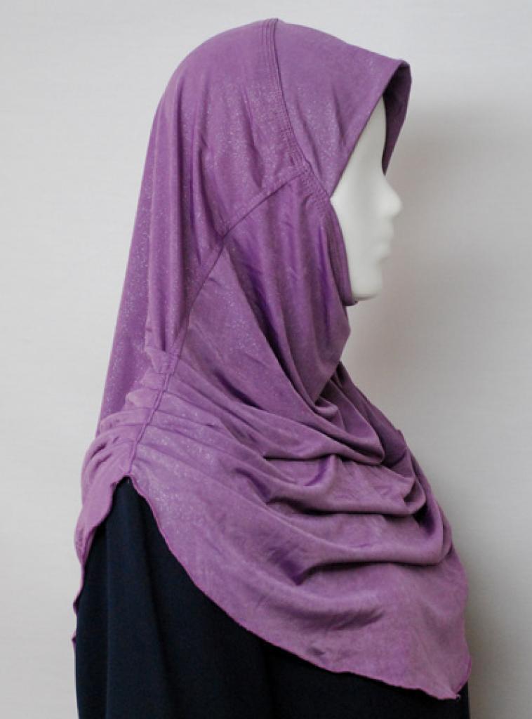 Solid Color Ruched Al Amirah Hijab  hi1693