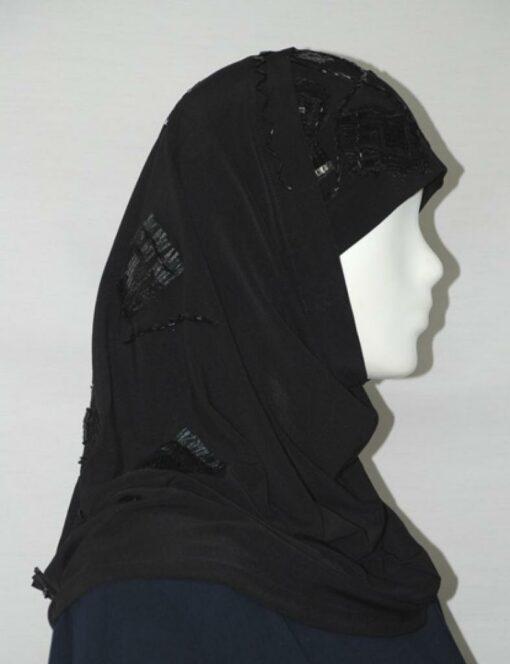 Tafetta Sequin Trim Al Amirah Hijab  hi1694