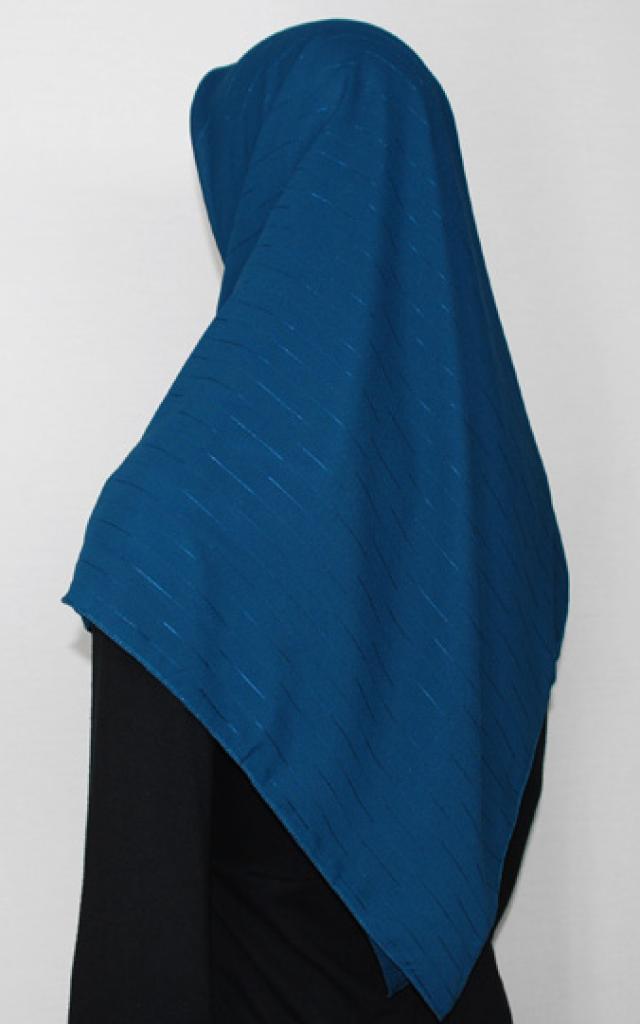 Square Georgette Embroidered Hijab hi1712