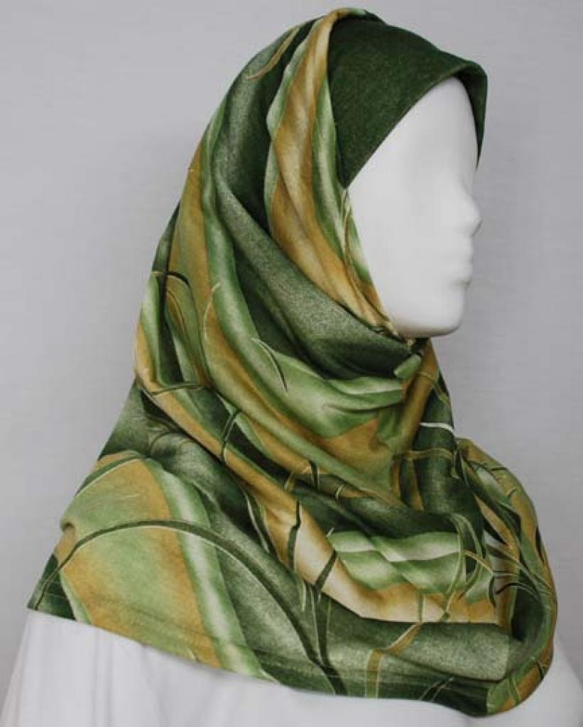 Multitone Stripe Al Amirah Hijab  hi1714