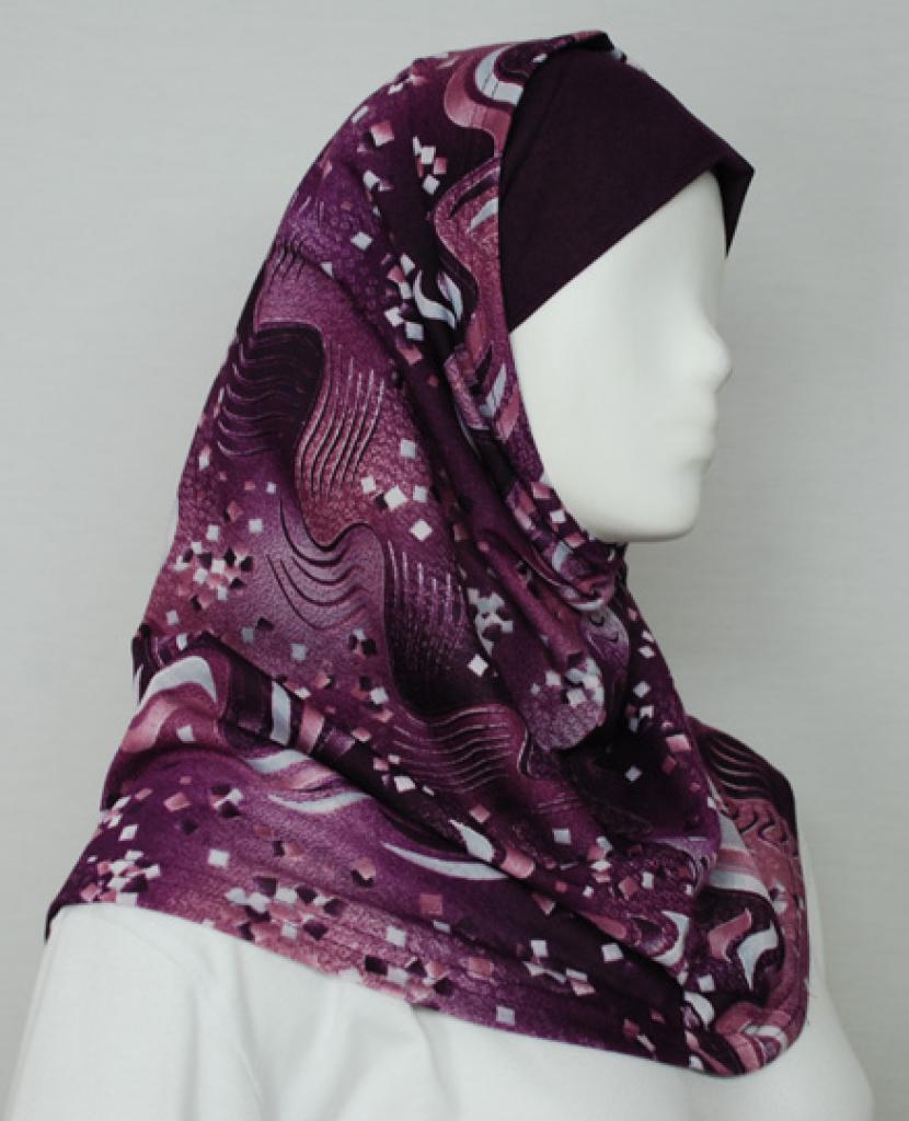 Wave Print Al Amirah Hijab  hi1715