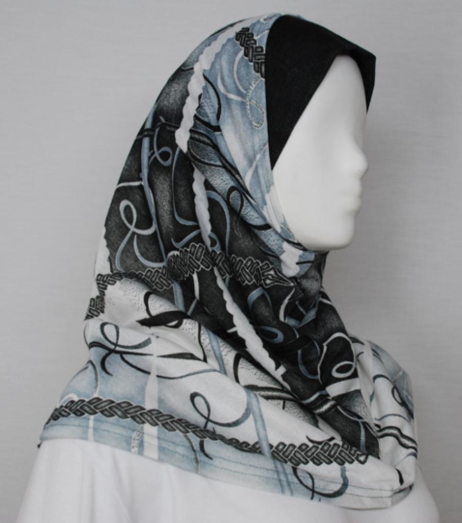 Ribbon Pattern Al Amirah Hijab hi1716