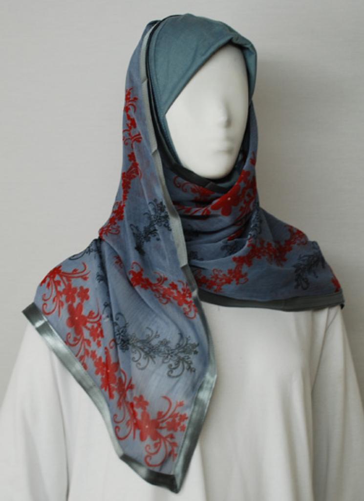 Kuwaiti Style Printed Shayla Wrap  hi1723