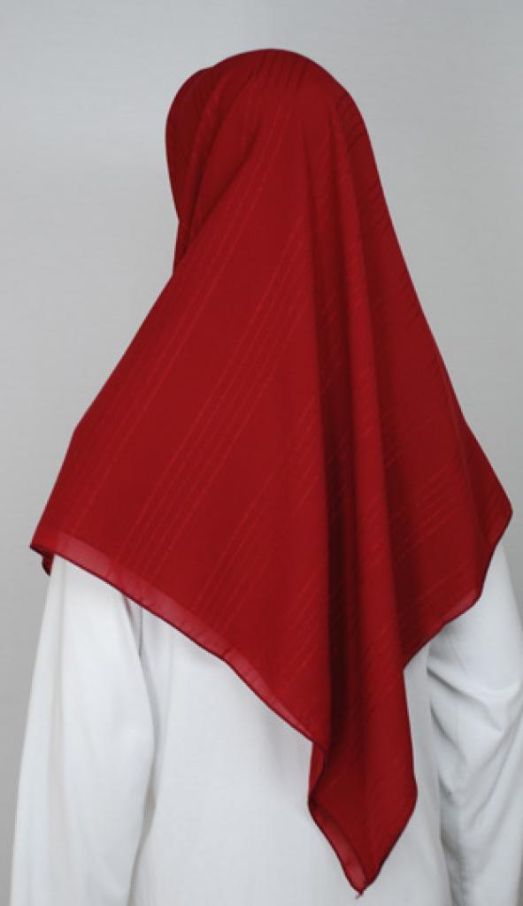 Square Georgette Embroidered Hijab hi1738