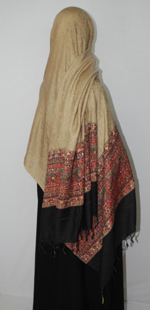 Premium Extra-Large Embroidered and Beaded Shawl hi1745