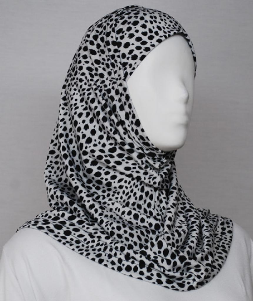 Dots Print Al Amirah Hijab  hi1746