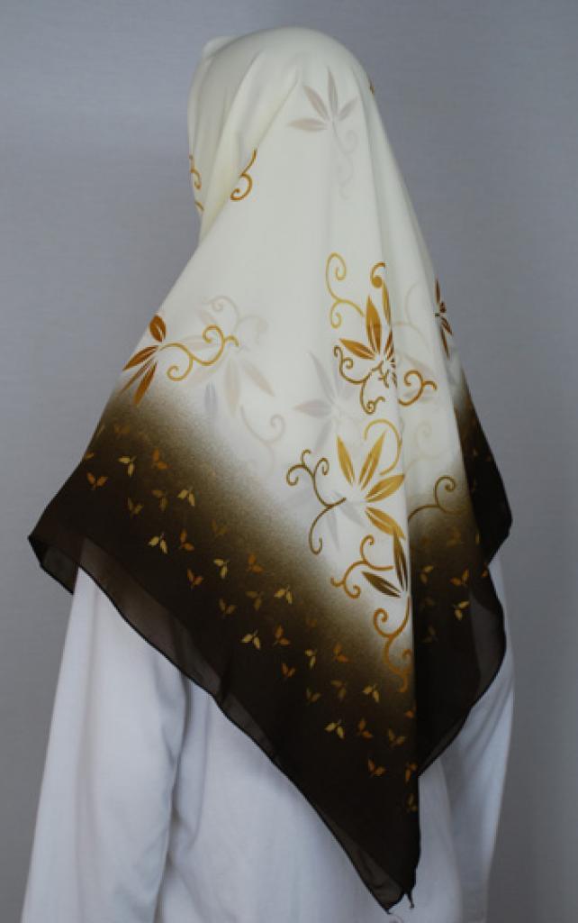 Floral Printed Turkish Gauze Hijab hi1747