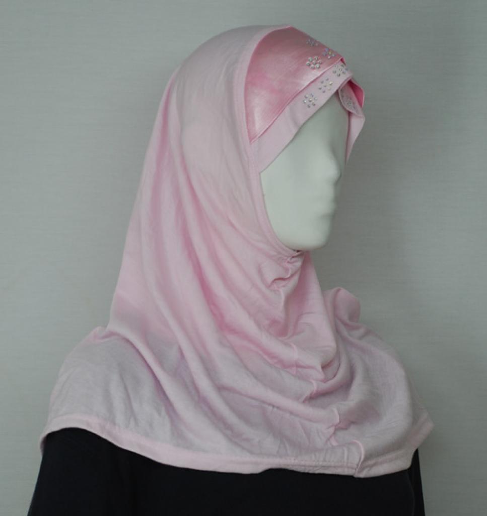 Solid Color Al Amirah Hijab with Satin Trim hi1770