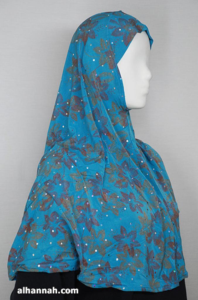 Sparkle Floral Print Al Amirah Hijab hi1798